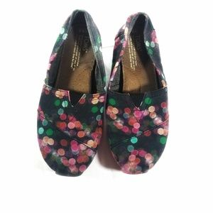 Toms Blurred Colorful Lights Classic Slip On flats